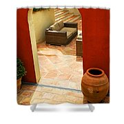 Courtyard Of A Villa Shower Curtain