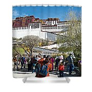 Courtyard Of Potala Palace In Lhasa-tibet Shower Curtain