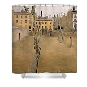 Courtyard Of The Old Barcelona Prison. Courtyard Of The Lambs Shower Curtain