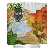 Cousins - Big Cats Shower Curtain