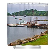 Cove In Glen Margaret-ns Shower Curtain