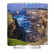 Cove On The Mendocino Coast Shower Curtain