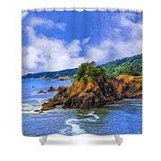 Cove On The Oregon Coast Shower Curtain