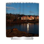 Cove Point Lodge Shower Curtain