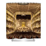 Covent Garden Theatre, From Microcosm Shower Curtain
