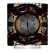 Coventry Cathedral Windows Montage Shower Curtain