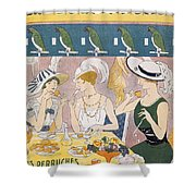 Cover Illustration From La Baionnette Shower Curtain