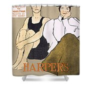 Cover Of Harpers Magazine, 1896 Shower Curtain