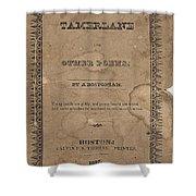 Cover Of Tamerlane Shower Curtain