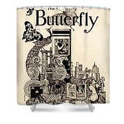 Cover Of The Butterfly Magazine Shower Curtain