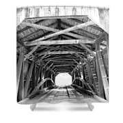 Covered Bridge Architecture Shower Curtain