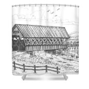 Covered Bridge Coventry Vermont Shower Curtain