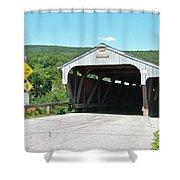 Covered Bridge For Pedestrians Shower Curtain