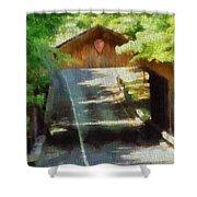 Covered Bridge In Sleeping Bear Dunes National Lakeshore Shower Curtain