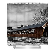 Covered Bridge Littleton New Hampshire 3 Shower Curtain