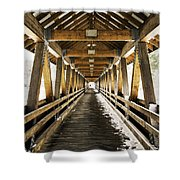Covered Bridge Littleton New Hampshire Shower Curtain