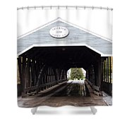 Covered Bridge North Conway Sacco River Shower Curtain