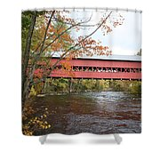 Covered Bridge Over Swift River Shower Curtain