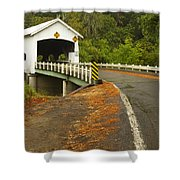 Covered Bridge Rochester 1 Shower Curtain