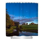 Covered Bridge Under A Vermont Sky Shower Curtain