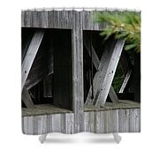 Covered Bridge Windows  Shower Curtain