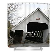 Covered Bridge - Woodstock Shower Curtain