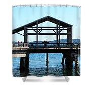 Covered Pier At Port Townsend Shower Curtain
