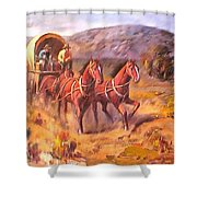 Covered Wagon Shower Curtain