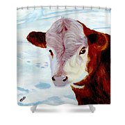Cow A Bunga Shower Curtain