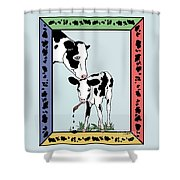 Cow Artist Cow Art Shower Curtain