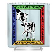Cow Artist Cow Art II Shower Curtain
