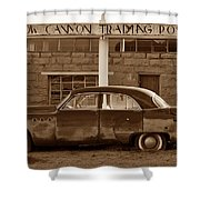Cow Canyon Trading Post 1949 Shower Curtain