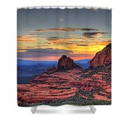 Cow Pies Sunset Shower Curtain