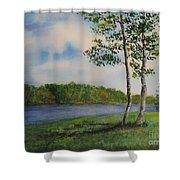 Cowan Lake Shower Curtain