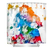Cowardly Lion Wizard Of Oz Paint Splatter Shower Curtain