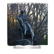 Cowboy 1908 By Frederic Remington Shower Curtain