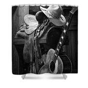 Cowboy Acoustic Guitar Shower Curtain