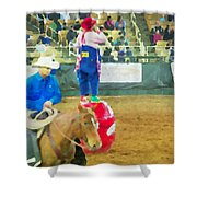 Cowboy And The Clown Shower Curtain