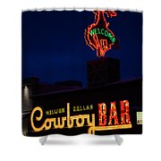 Cowboy Bar Shower Curtain