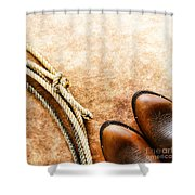 Cowboy Boots And Lasso Shower Curtain