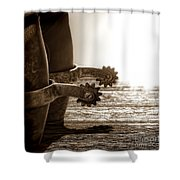 Cowboy Boots And Riding Spurs Shower Curtain