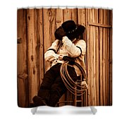 Cowboy Break Shower Curtain