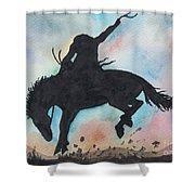 Cowboy Bronco Shower Curtain