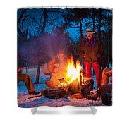 Cowboy Campfire Shower Curtain