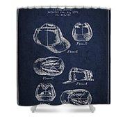 Cowboy Cap Patent - Navy Blue Shower Curtain
