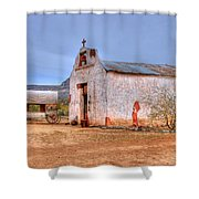 Cowboy Church Shower Curtain by Tap On Photo