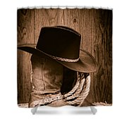 Cowboy Hat And Boots Shower Curtain