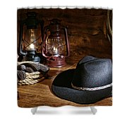 Cowboy Hat And Tools Shower Curtain