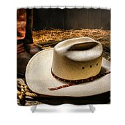Cowboy Hat On Lasso Shower Curtain