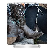Cowboy Hat And Cowgirl Boots Shower Curtain